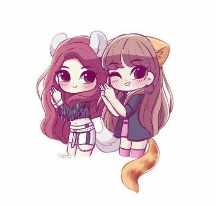20 Anime Dibujos A Lapiz Amistad Mejores Amigas Dibujo Dibujos Kawaii Chibi Dibujos