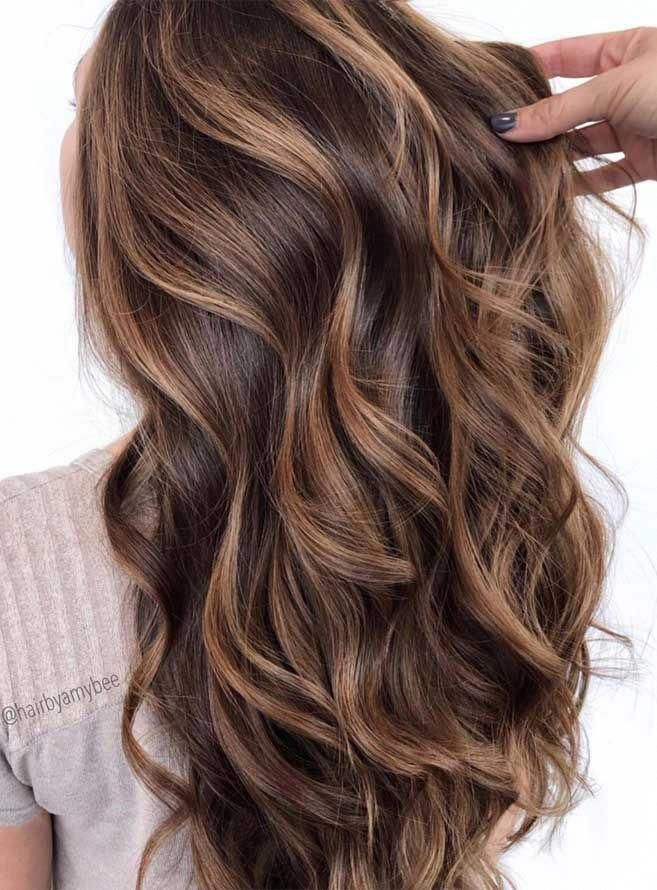 We love this brunette balayage! #balayage #blondebalayage #hairpainting #hairpainters #bronde #brondebalayage #highlights #ombrehair #redhaircolor