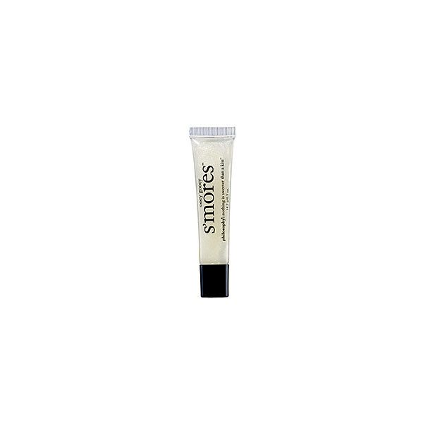 Philosophy S'mores Lip Shine 0.5 oz (9,175 KRW) ❤ liked on Polyvore featuring beauty products, makeup, lip makeup, lip gloss, fillers, beauty, philosophy, flavored lip gloss, shiny lip gloss and lip gloss makeup