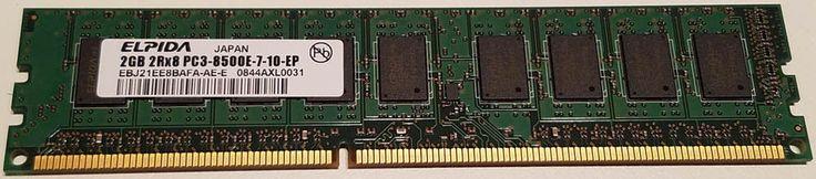 2GB 2Rx8 PC3-8500E-7-10-EP Memory RAM by Elpida