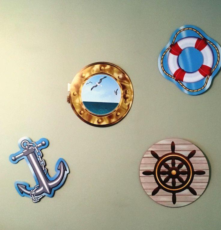 Nautical photo booth backdrop