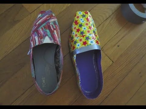 ▶ How to Make Duct Tape TOMS - YouTube