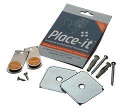 Place-it Magnetisk Billedophæng, SKRÅvæg, TRÆramme