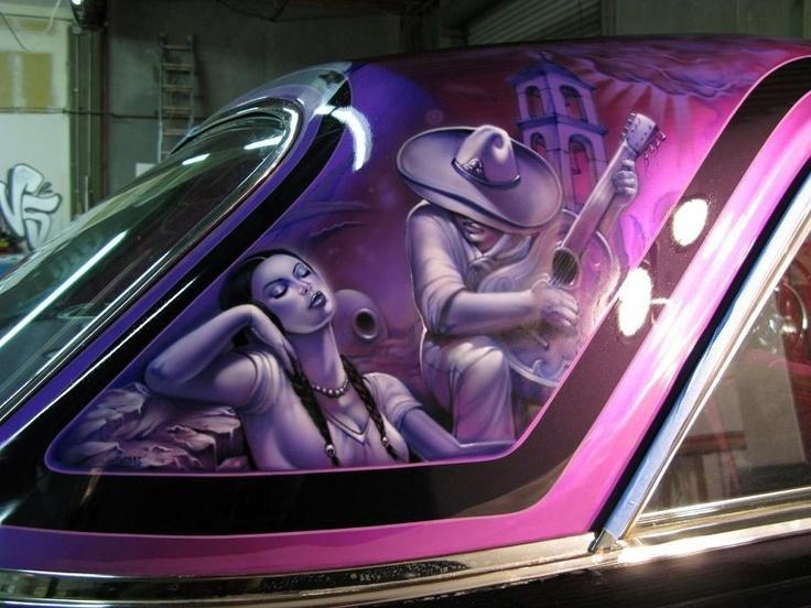 15 best lowrider car murals images on pinterest murals for Airbrush car mural