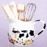 Cow Themed Kitchen In Spring And Summer And Penguins In The Fall And Winter