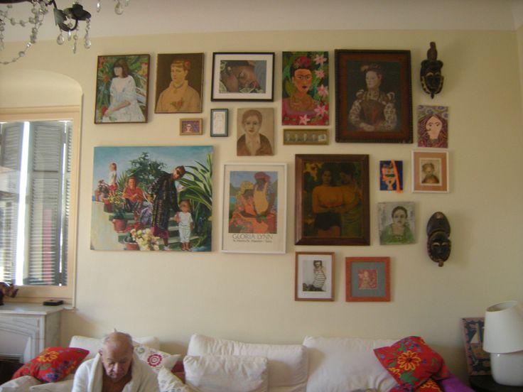 Wall of faces -- Menton, France