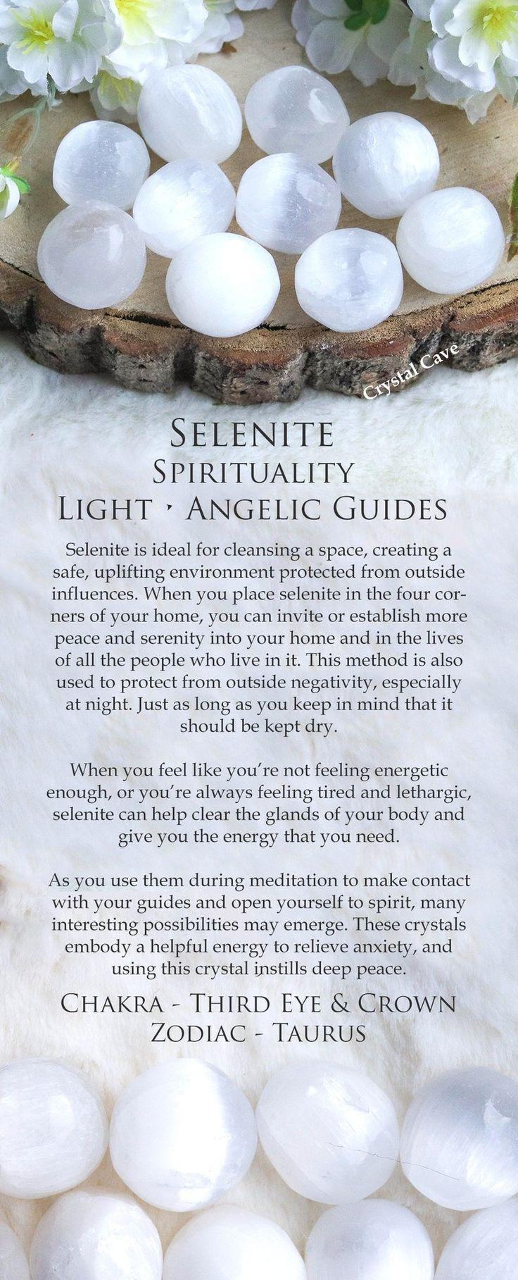 Selenite Crystal Tumbled Stone Polished Stone