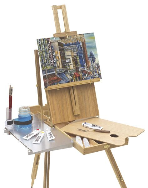 Shelfhelp Shelf (Easel Not Included) - you can add a shelf to your french easel, neat!