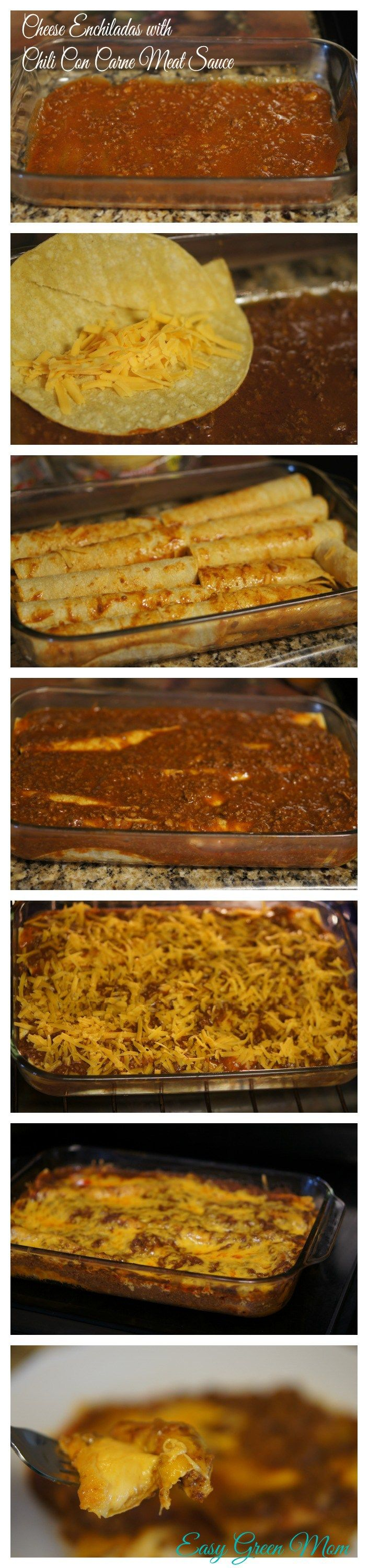 Cheese Enchiladas with Chili Con Carne Meat Sauce steps