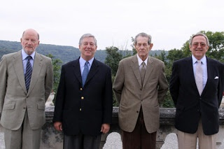 King Simeon of Bulgaria, Crown Prince Alexander of Yugoslavia, King Michael of Romania, & King Constantine of Greece