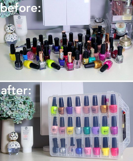 A Nail Polish Case That, After You Sort Through And Toss