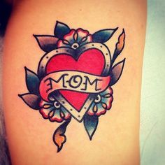 traditional heart banner tattoo - Google Search