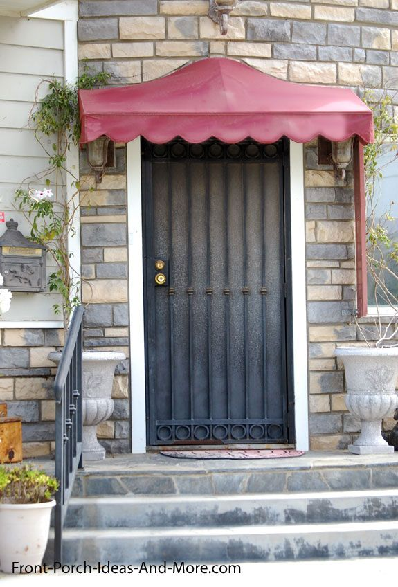 awning over front door
