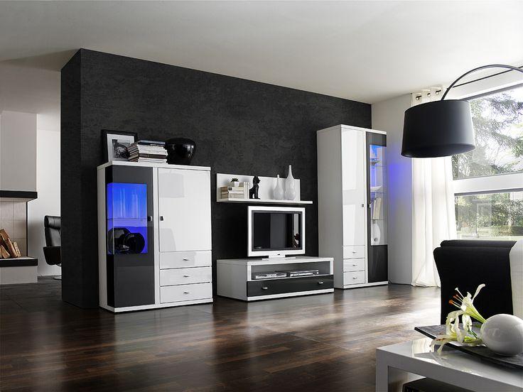 93 best Wohnzimmer   Wohnwände images on Pinterest Living room - wohnwand wei modern