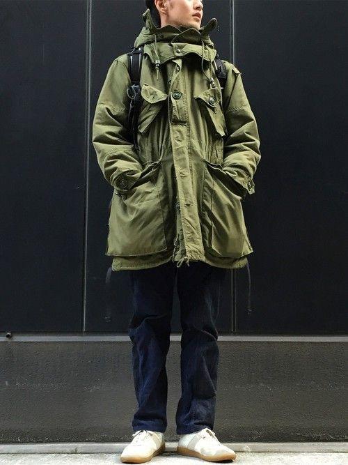VINTAGEのミリタリージャケットを使ったminimaljpのコーディネートです。WEARはモデル・俳優・ショップスタッフなどの着こなしをチェックできるファッションコーディネートサイトです。