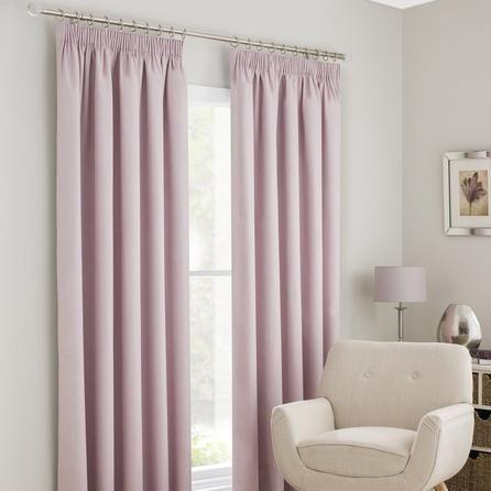 Dunelm Pink Solar Blackout Pencil Pleat Curtains