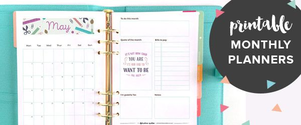 get a free printable monthly planner page every month when you subscribe to Clementine Creative's newsletter