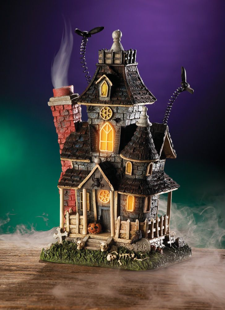 Lighted Mansion Halloween Decoration Haunted House Table