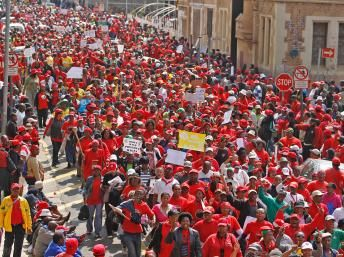 Public sector strike in Johannesburg