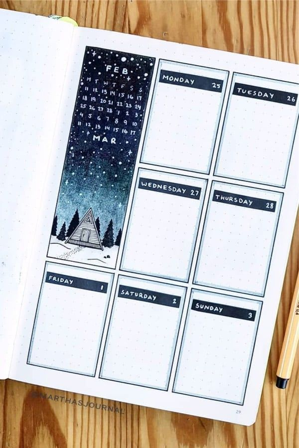 25 Bullet Journal Weekly Spread Ideas For Bujo Addicts Vol.1 - Crazy Laura #bulletjournal Check out these aswesome weekly spread ideas for your bullet journal!