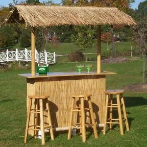 This tiki bar looks like the one i got from world market for Pool hut designs