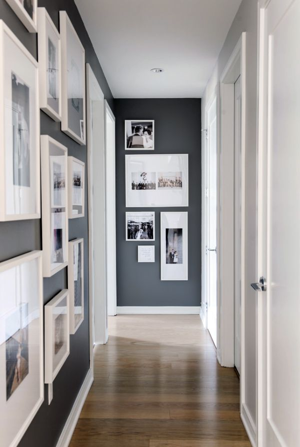 Contemporary Grey Hallway