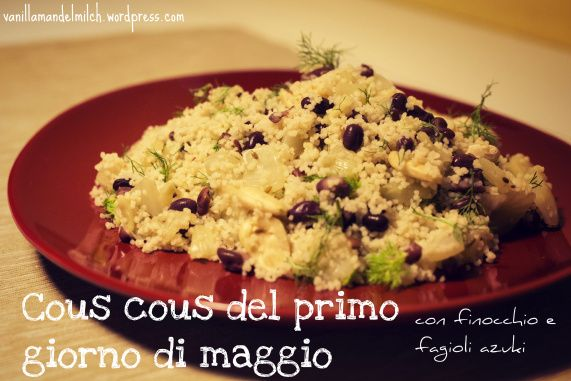 vegan cous cous with fennel and azuki beans