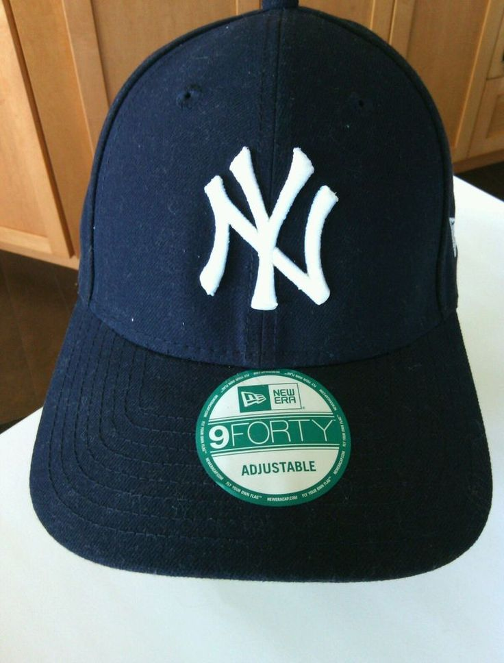 NY Yankees MLB Baseball Cap Adjustable New York New Era Hat 9Forty Fit Navy USA | eBay