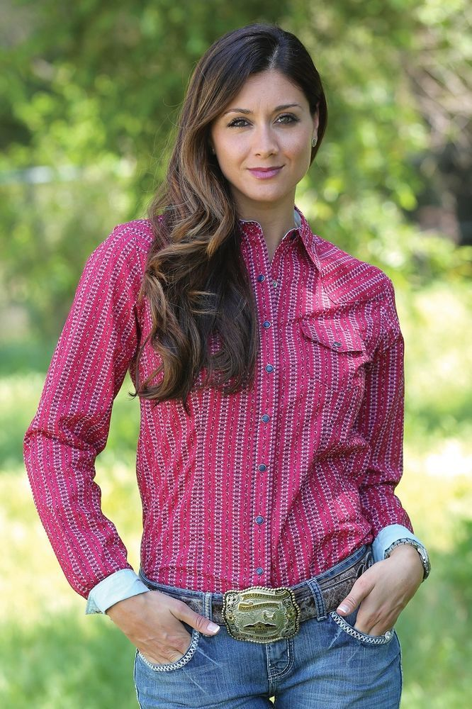 $24.99! medium only CRUEL GIRL CTW9381009 RODEO Western Barrel ARENA FIT SHIRT COWGIRL NWT Medium #CruelGirl #Western