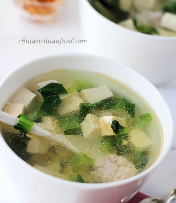 VEGETABLE TOFU SOUP == Simply and easy homemade tofu vegetable soup ...