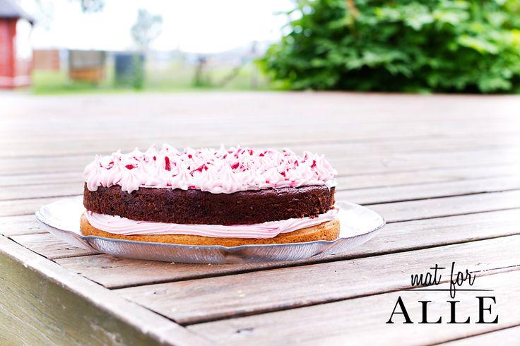 Vanilla, chocolate and rasberry cake. www.matoralle.no