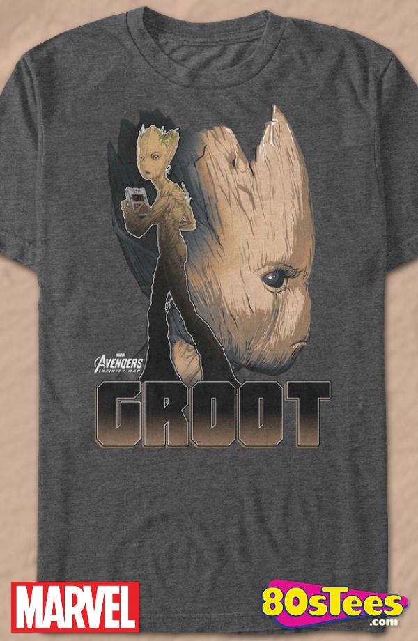 ca609799c Groot Avengers Infinity War Geeks: This men's t-shirt has been designed and  illustrated with superb art of Groot. Great to wear to the new movie being  ...