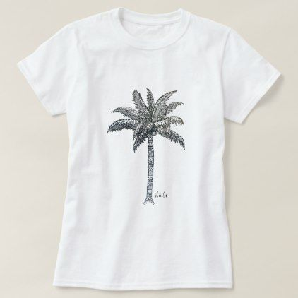 Palm Tree Mandala Pattern Tropical T-Shirt - pattern sample design template diy cyo customize