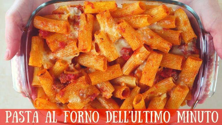 PASTA AL FORNO DELL'ULTIMO MINUTO Ricetta facile - Quick and Easy Italia...