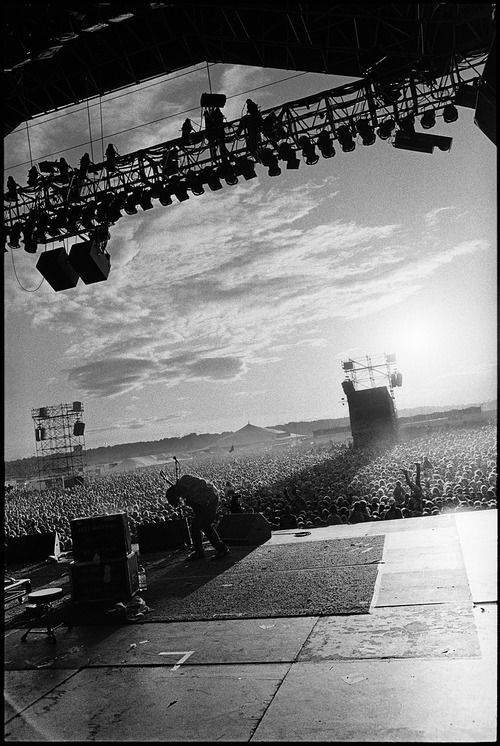 Pavement at Reading Festival in England, 1995 | Photographed by Danny Clinch
