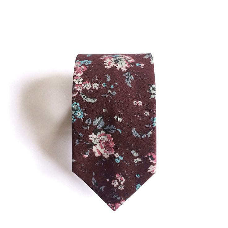 Thomas Floral Burgundy Cotton Men's Tie, Skinny Tie by SunLondon on Etsy https://www.etsy.com/listing/235106437/thomas-floral-burgundy-cotton-mens-tie