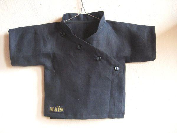 Kimono boutonné, patron maison, Grains de Maïs