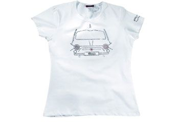 Fiat Ladies Sequined White T-Shirt | Clothing | Fiat Merchandise | SG Petch