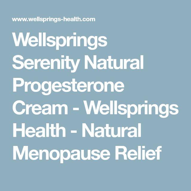 Wellsprings Serenity Natural Progesterone Cream - Wellsprings Health - Natural Menopause Relief