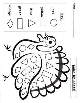 Turkey pattern blocks template