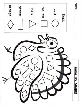 Turkey pattern blocks template