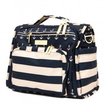 Ju Ju Be B.F.F. Diaper Bag-The Commodore - The First Mate - This bag will be your BFF. It has tons of pockets and organization...so much you won't know what to do with it all. Comes with detachable shoulder straps and messenger straps. Use it any way you want!  BabyCubby.com