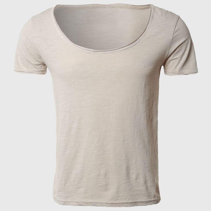 2017 T Shirts For Men Cotton T-Shirts Retro Brand T Shirts Designer Neck Deep Curved Hem Shirt Teen Men Clothing Urban