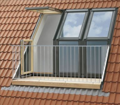 Velux windows with balcony