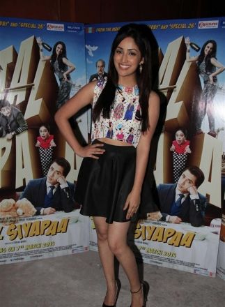Yami Gautam at promotion of Total Siyappa movie