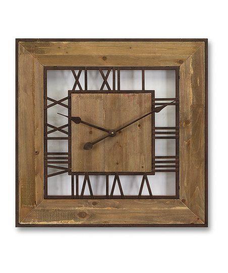 Rustic Roman Numeral Wall Clock | zulily