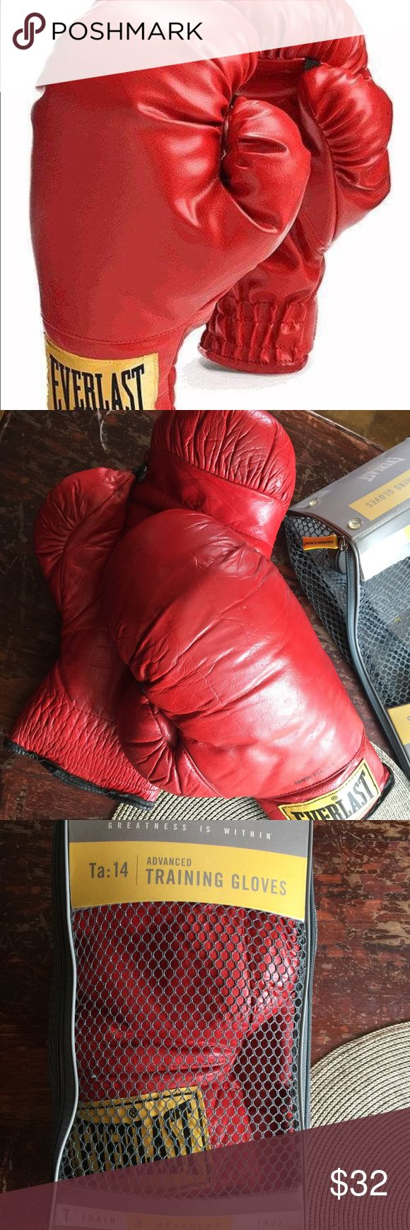 Everlast boxing gloves Used Everlasting Advanced Pro Style Training Gloves TA:14 #2754. Other
