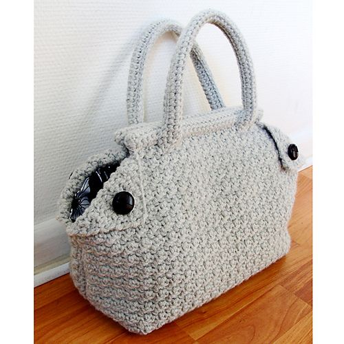 Lovely Crochet purse. Free pattern. Bolsos y cestas de crochet Pi ...