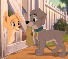 Angel and Scamp from Lady & the Tramp 2