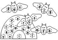 ABC Bat Letter Assessments  activity available at www.makinglearningfun.com.